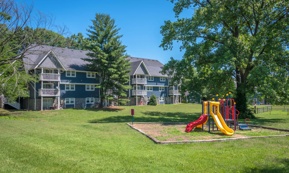 Beautiful play area for kids at Mallards Landing Apartment Homes in Nashville, Tennessee