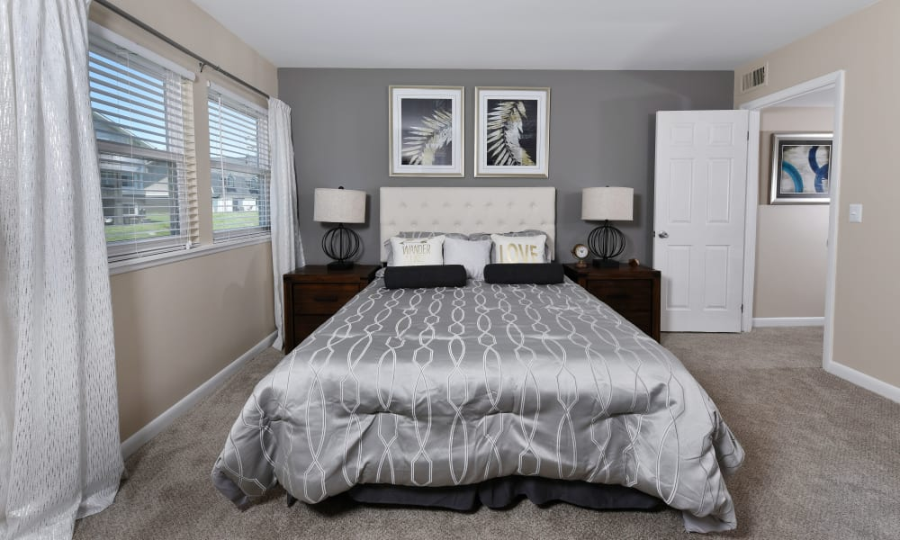 Bedroom with great lighting at Mallards Landing Apartment Homes in Nashville, Tennessee