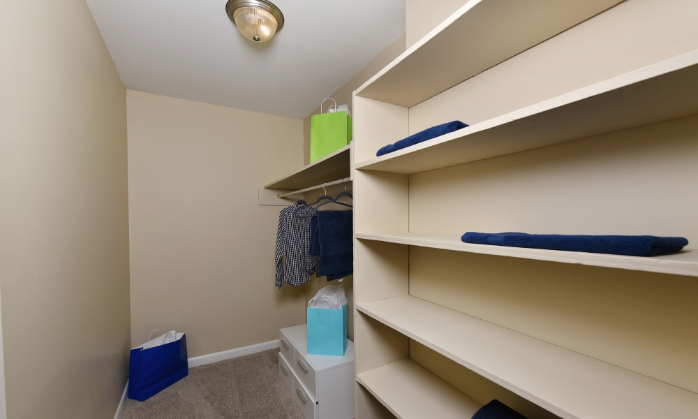 Large closet space at Mallards Landing Apartment Homes in Nashville, Tennessee