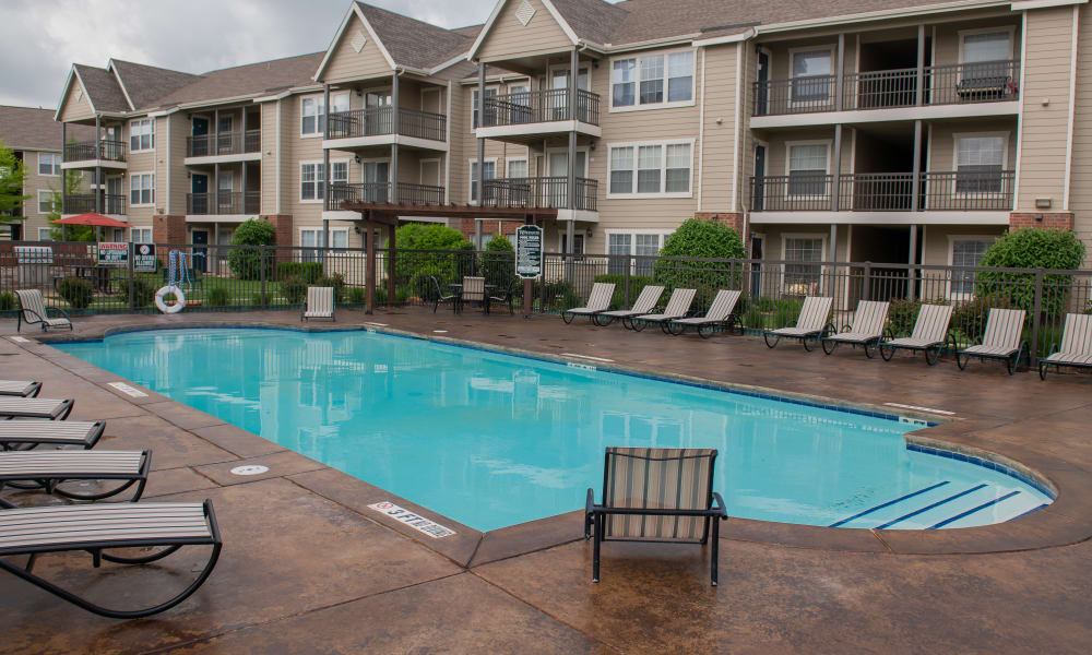 The pool at Winchester Apartments in Amarillo, Texas