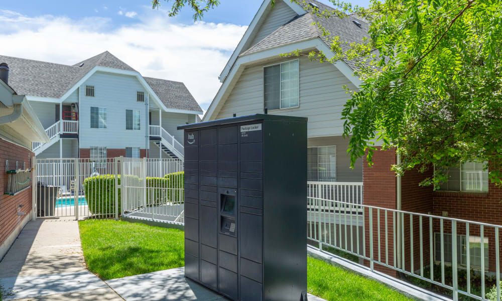 24-Hour Package Lockers with Amazon HUB at Windgate Apartments in Bountiful, Utah