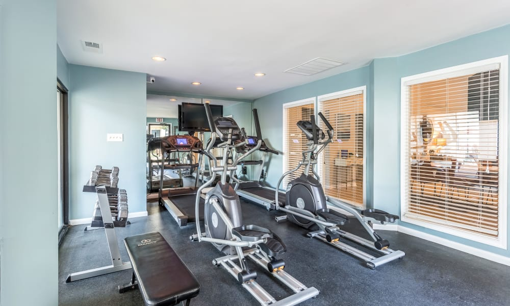 The fitness center at Poplar Place in Memphis, Tennessee