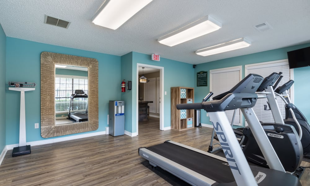 The fitness center at Chapel Ridge at Chenal in Little Rock, Arkansas