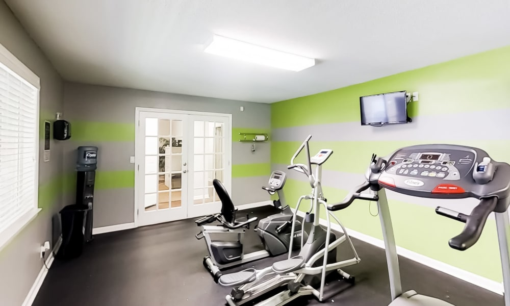 Fitness center at The Hills at Oakwood in Chattanooga, Tennessee