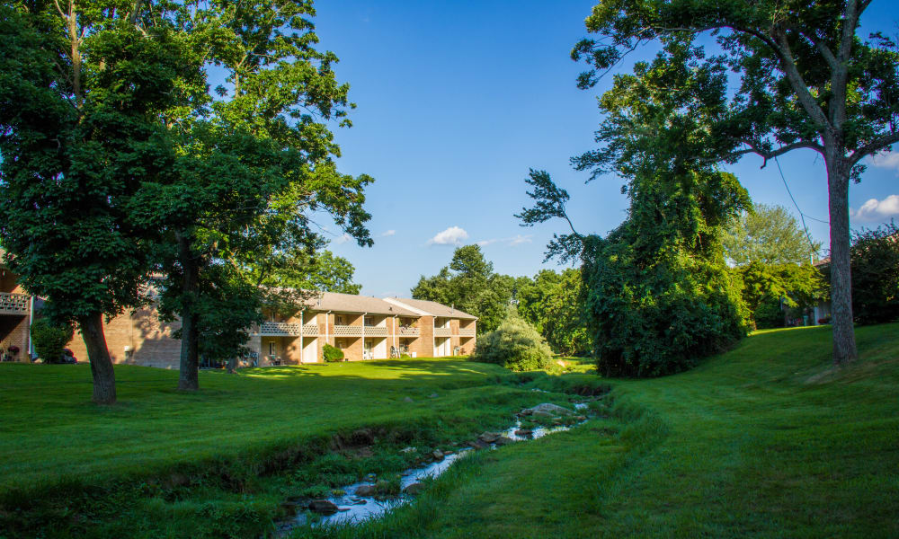 Marchwood Apartment Homes sits on 40 manicured acres in Exton, Pennsylvania.