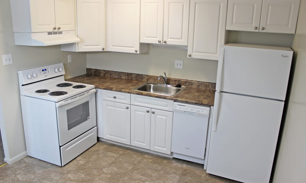 Kitchens with dishwashers at Marchwood Apartment Homes in Exton, Pennsylvania.