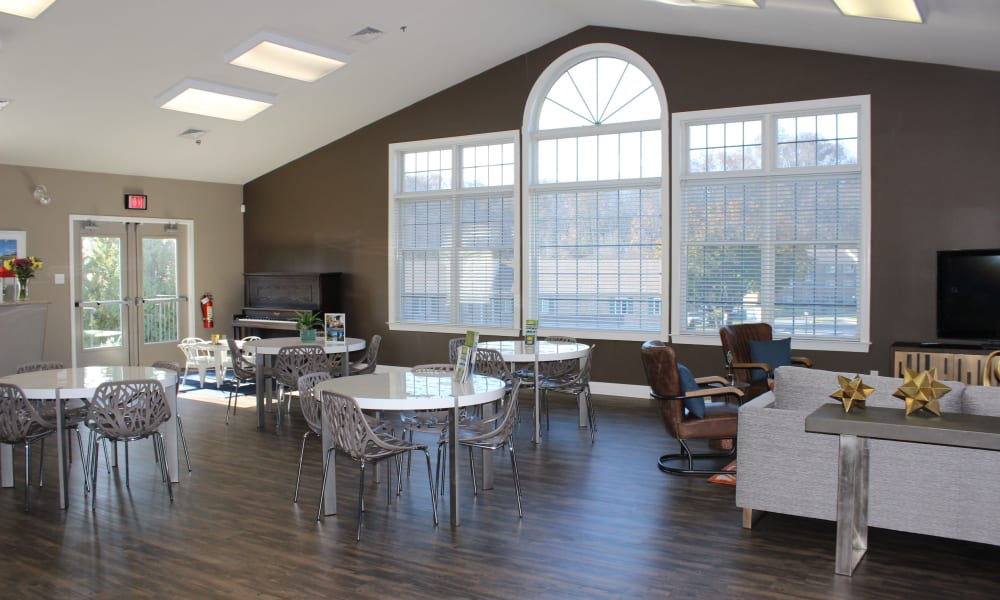 Clubhouse community room at Marchwood Apartment Homes in Exton, Pennsylvania.