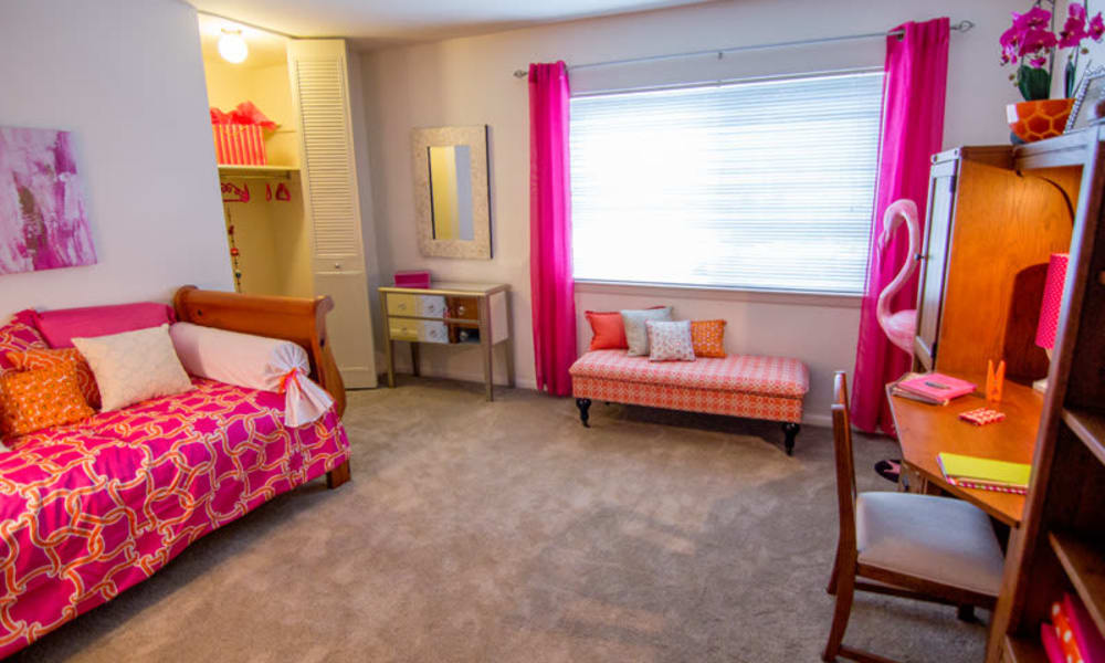 Bedrooms with natural light at Marchwood Apartment Homes in Exton, Pennsylvania.