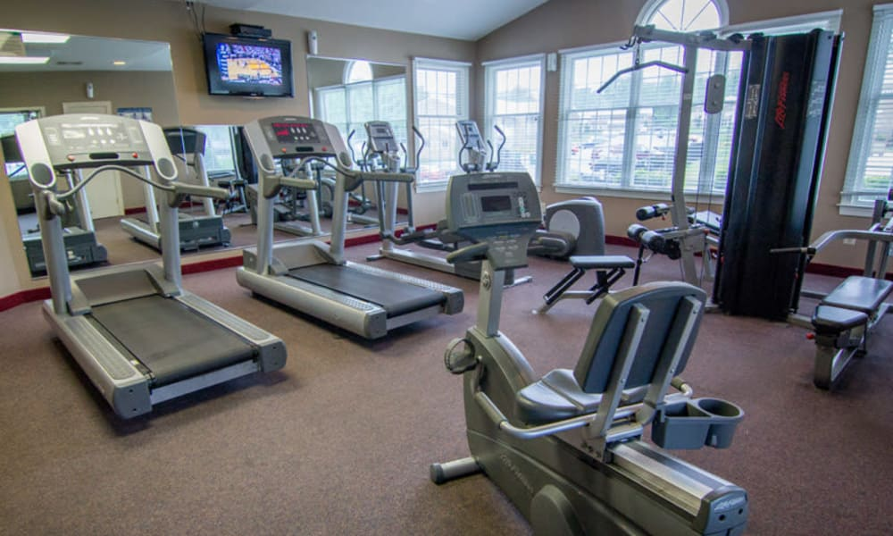Resident fitness center at Marchwood Apartment Homes in Exton, Pennsylvania.