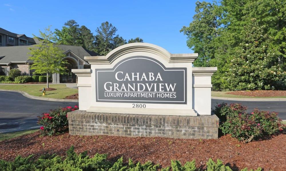 Signage at Cahaba Grandview in Birmingham, Alabama