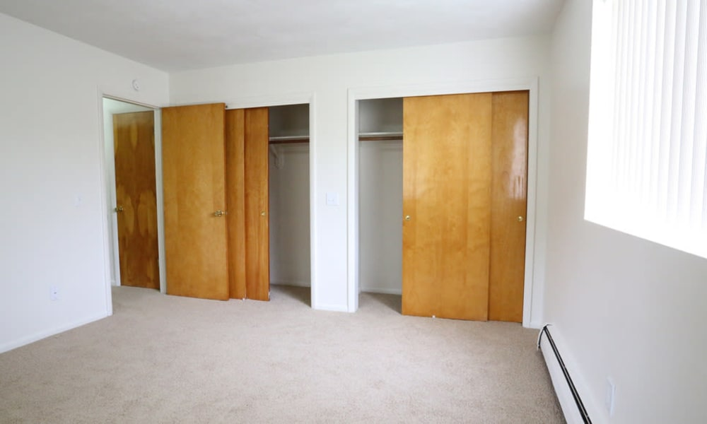 Double closets in your master bedroom at Elmwood Court Apartments in Rochester