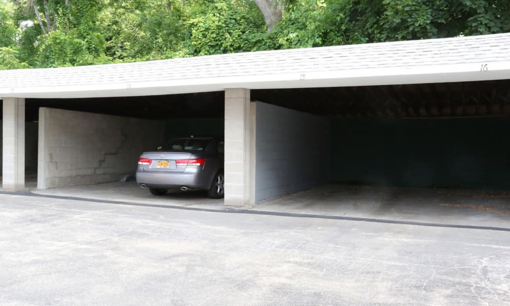 Carport parking available at Elmwood Court Apartments in Rochester