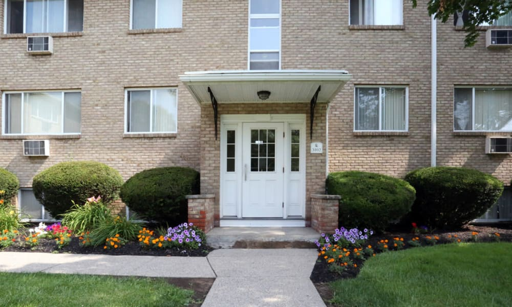 Entrance to apartment at Elmwood Court Apartments in Rochester