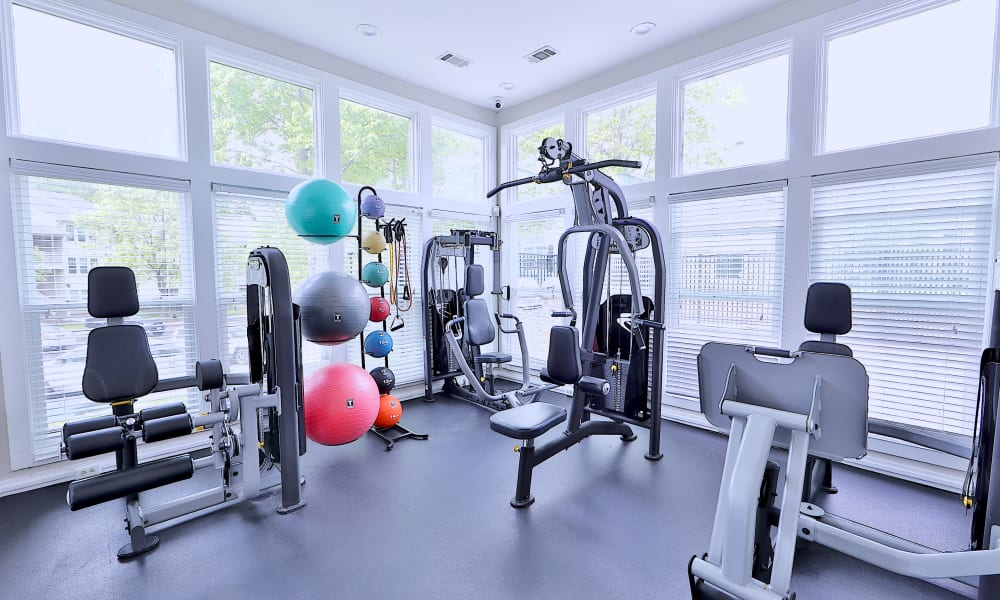 Gym at Chase Lea Apartment Homes in Owings Mills, Maryland