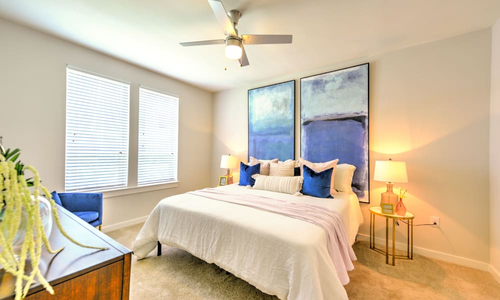 Bedroom in model home with tons of light at Luxor Club in Jacksonville, Florida