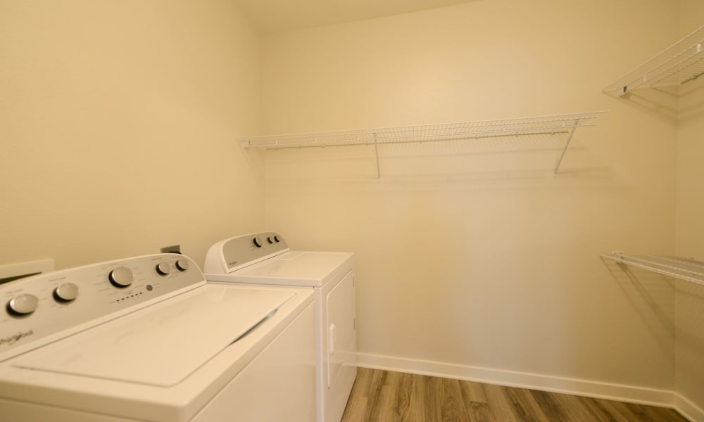 Laundry room at Luxor Club in Jacksonville, Florida