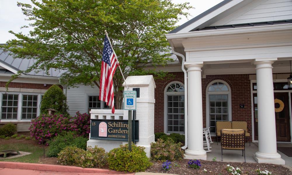 exterior view of Schilling Gardens Senior Living