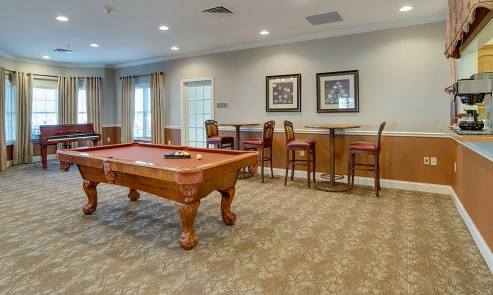 clubhouse with a pool table