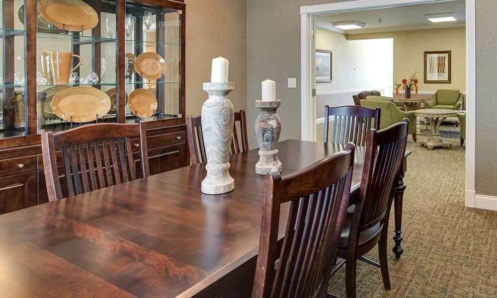 Table at Auburn Creek Senior Living