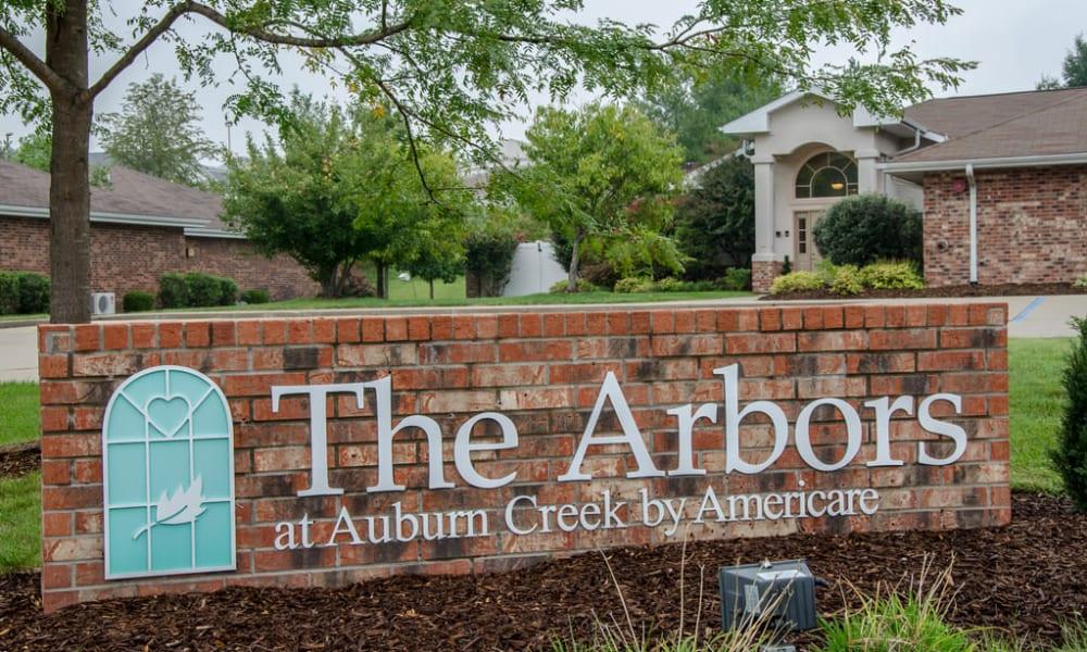 Signage at Auburn Creek Senior Living