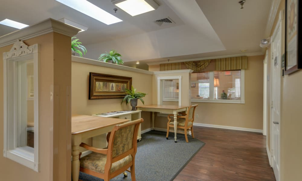 Relaxation corner at Auburn Creek Senior Living in Cape Girardeau, Missouri