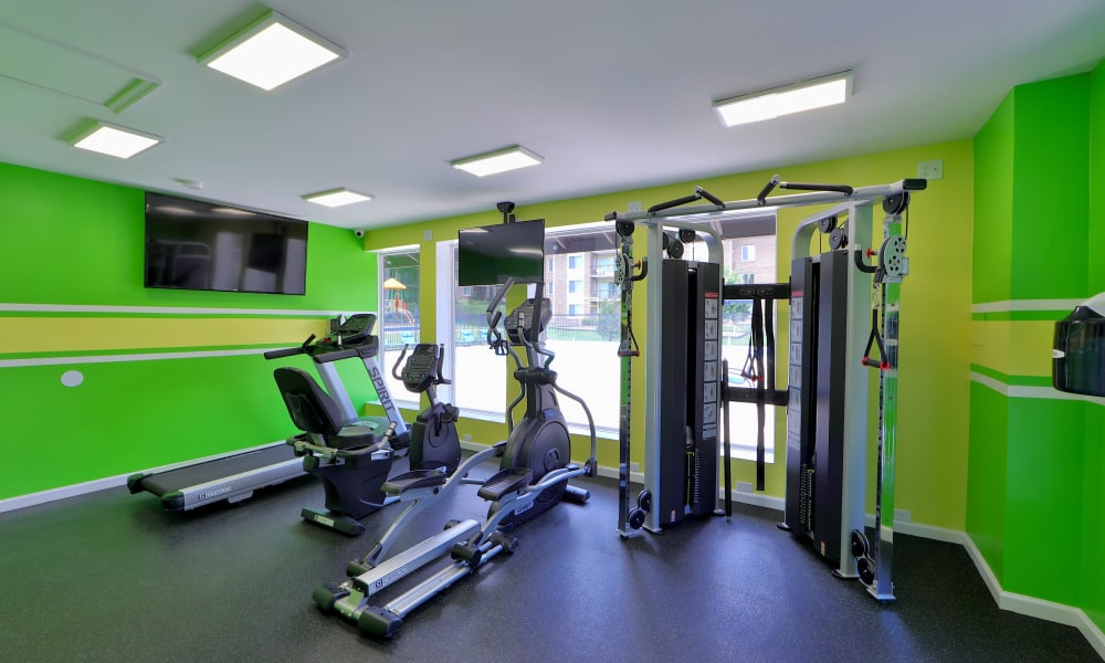 Gym at Montgomery Trace Apartment Homes in Silver Spring, Maryland