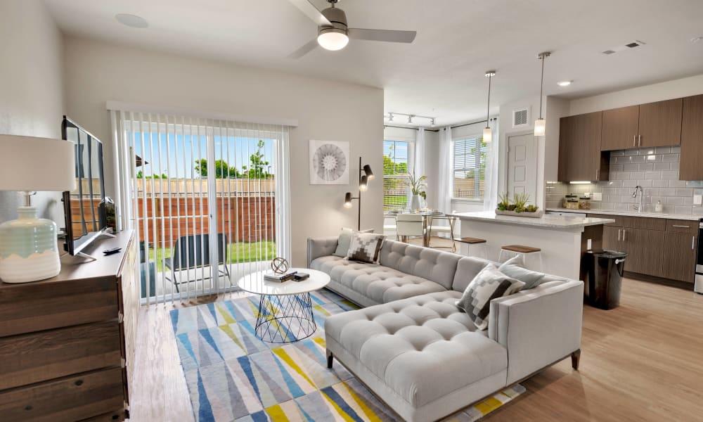 Living Room at Alta Tech Ridge in Austin, Texas