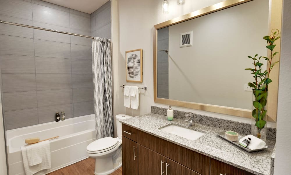 Bathroom available at Alta Tech Ridge in Austin, Texas