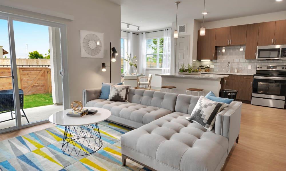 Alta Tech Ridge in Austin, Texas offers a spacious living room