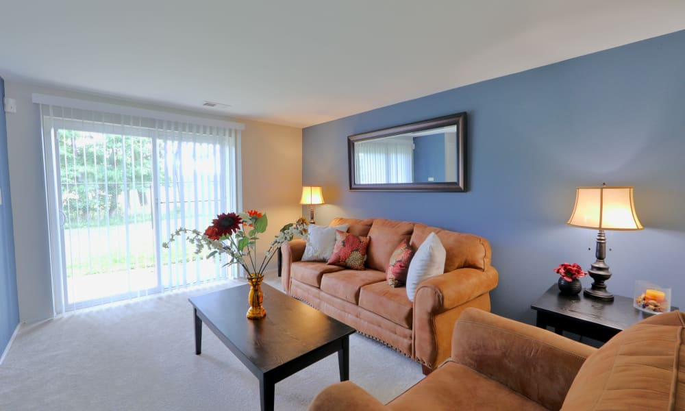 Living Room at Gwynnbrook Townhomes in Baltimore, Maryland