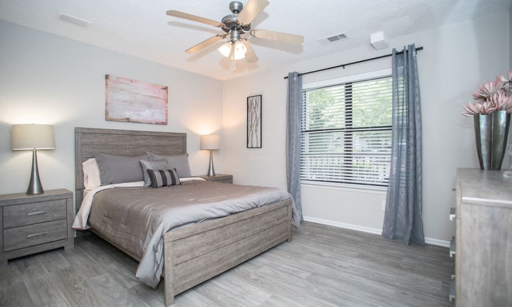 Enjoy our Beautiful Apartments Bedroom at The Pointe at Preston Ridge