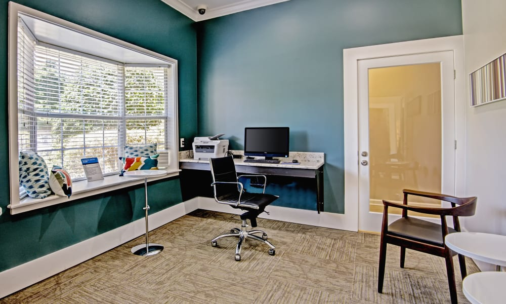 Business area at The Flats @ 55 Twelve in Durham, North Carolina