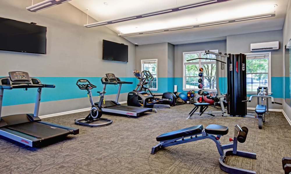 Great fitness equipment at The Flats @ 55 Twelve in Durham, North Carolina