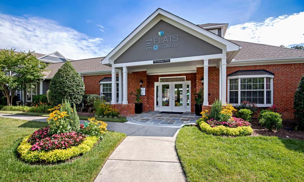 Leasing office at The Flats @ 55 Twelve in Durham, North Carolina