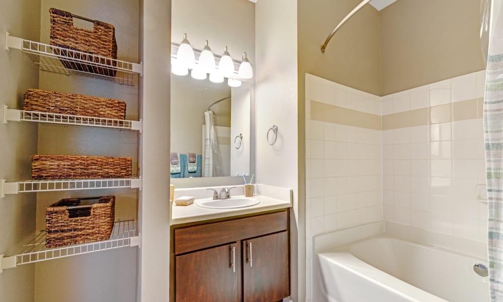 Large bathroom at The Flats @ 55 Twelve in Durham, North Carolina
