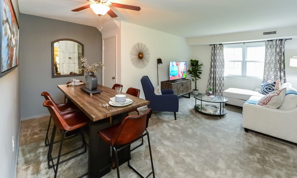 Spacious Living Room at Forge Gate Apartment Homes in Lansdale, PA