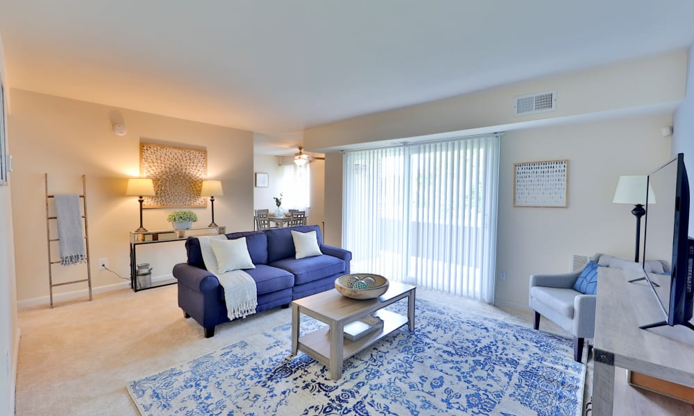 Living Room at Charlesmont Apartment Homes in Dundalk, Maryland