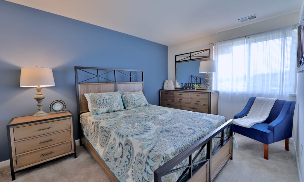 Bedroom at Charlesmont Apartment Homes in Dundalk, Maryland