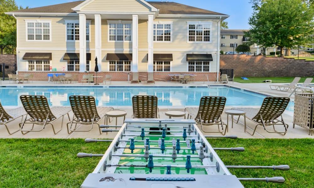 Swimming Pool & Foosball Table at Stonegate at Devon Apartments in Devon, Pennsylvania