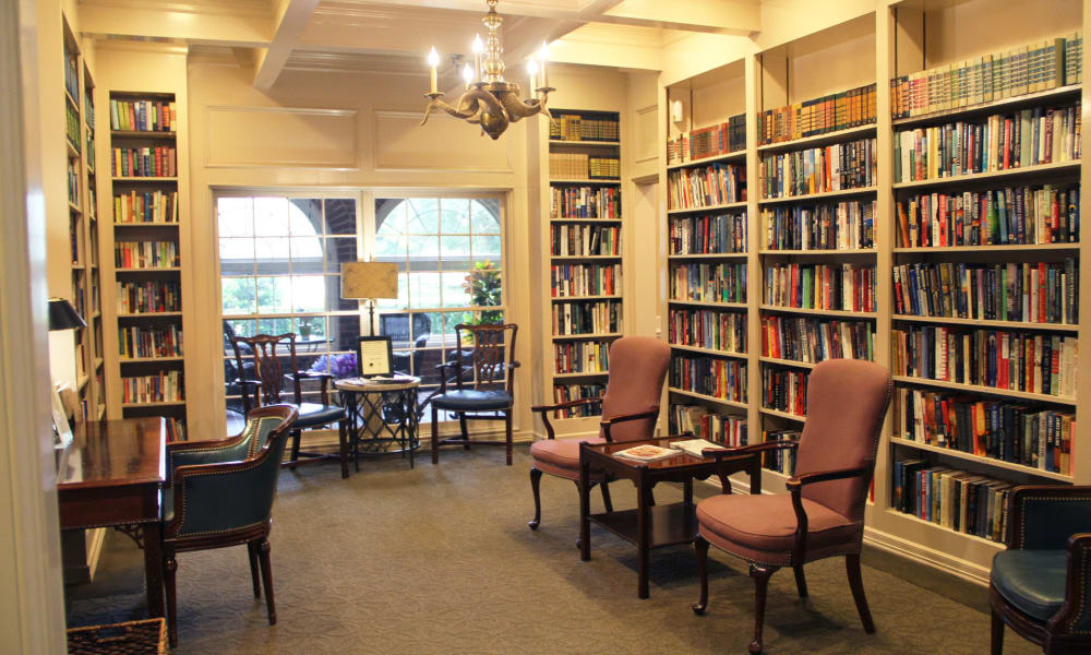Library at Village on the Park Friendswood in Friendswood, Texas