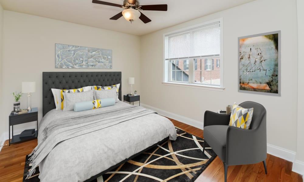 Bedroom at The Villas at Bryn Mawr Apartment Homes in Bryn Mawr, Pennsylvania