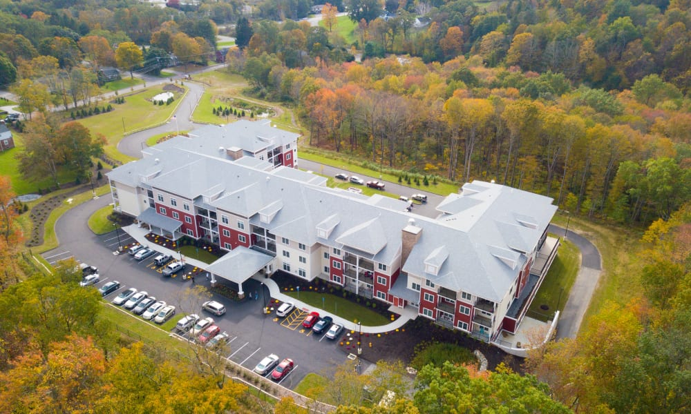 Aerial view of Keystone Place at Newbury Brook in Torrington, Connecticut