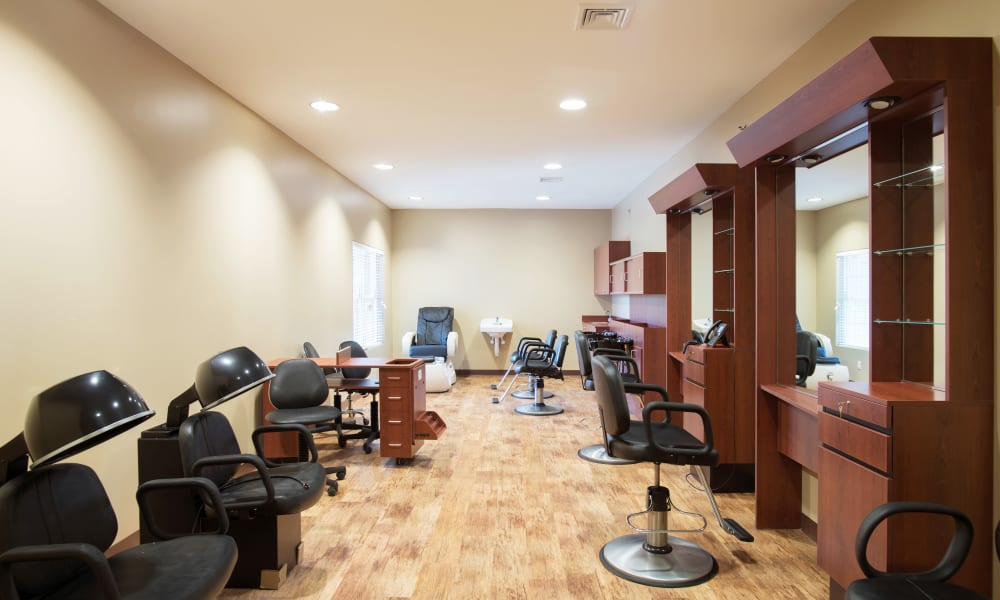 A hair salon at Keystone Place at Newbury Brook in Torrington, Connecticut