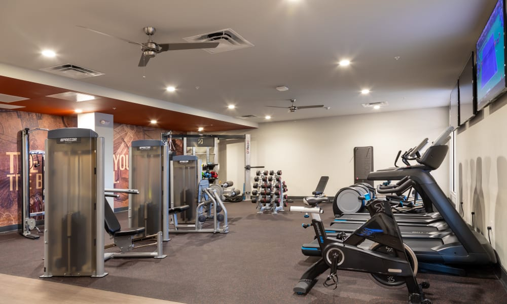Fitness Center at 50 Front Luxury Apartments in Binghamton, New York