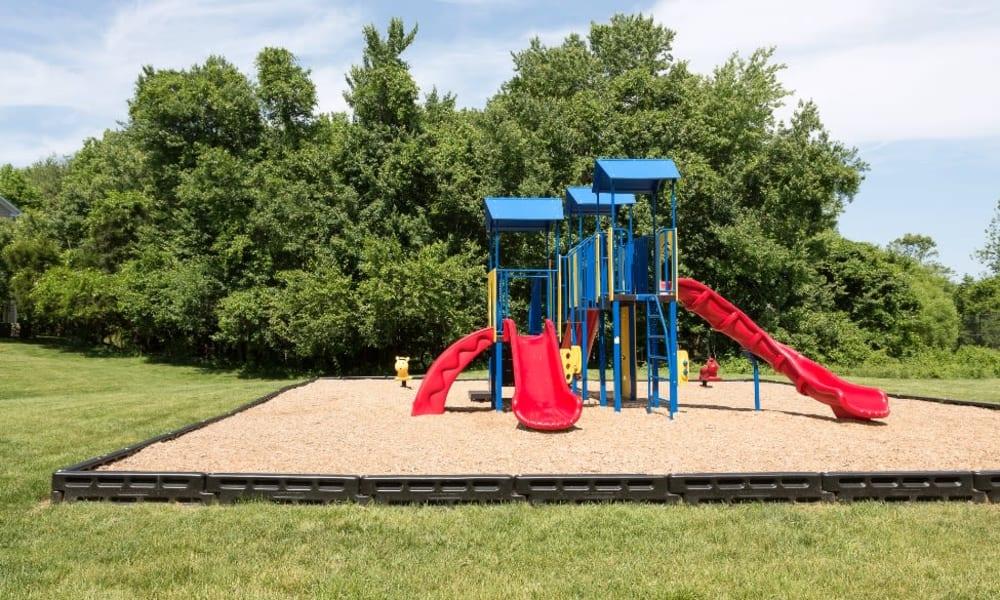 Onsite playground at Abbotts Run Apartments in Alexandria, Virginia.