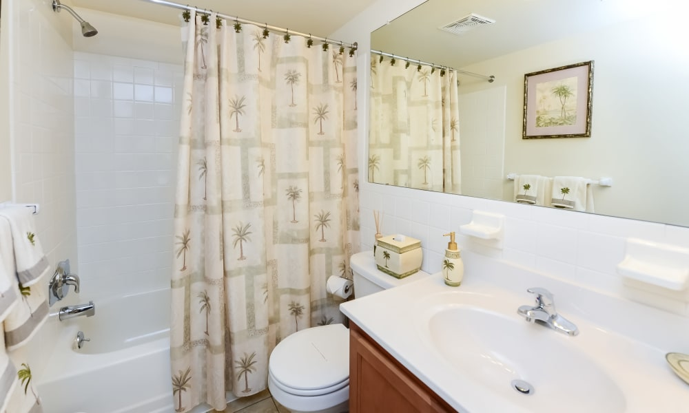 Bathroom at Willowbrook Apartments in Jeffersonville, Pennsylvania
