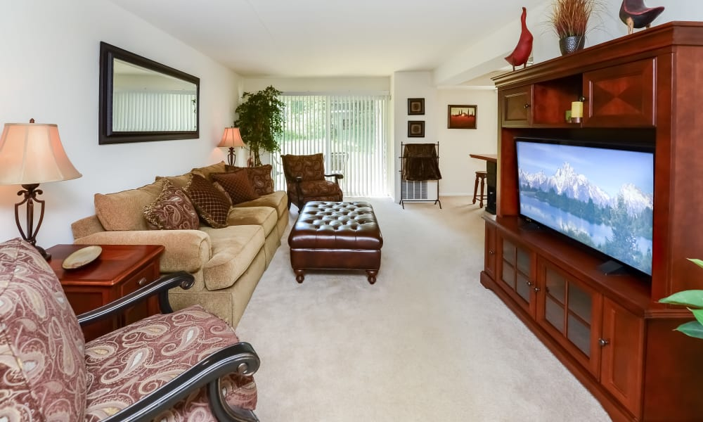 Living Room at Willowbrook Apartments in Jeffersonville, Pennsylvania