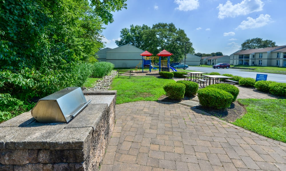 Our Apartments in Jeffersonville, Pennsylvania offer an Outdoor BBQ Area