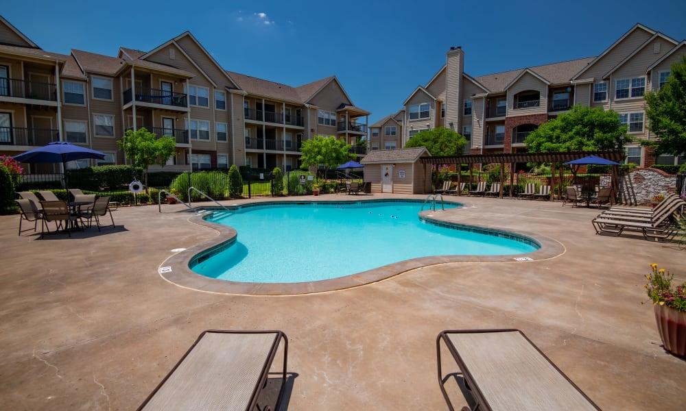 The community pool at Fountain Lake in Edmond, Oklahoma