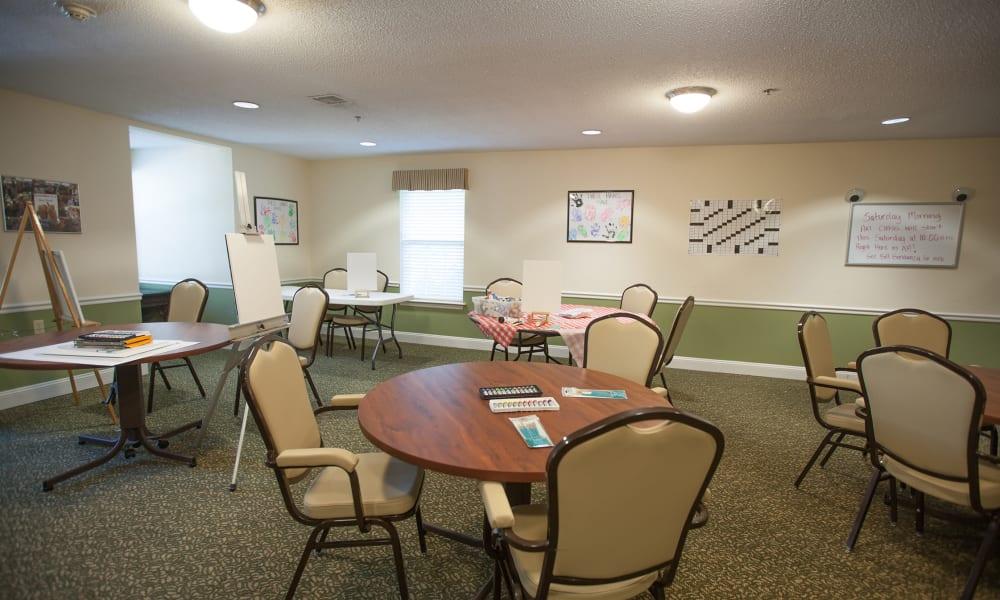 Art room at The Island Cove at Hilton Head in Hilton Head, South Carolina